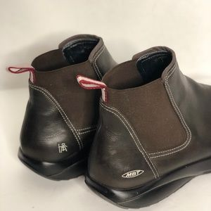 07ad8a9e5ab1 MBT Shoes - MBT Bomoa Brown Women Slip-on Ankle Booties Boots